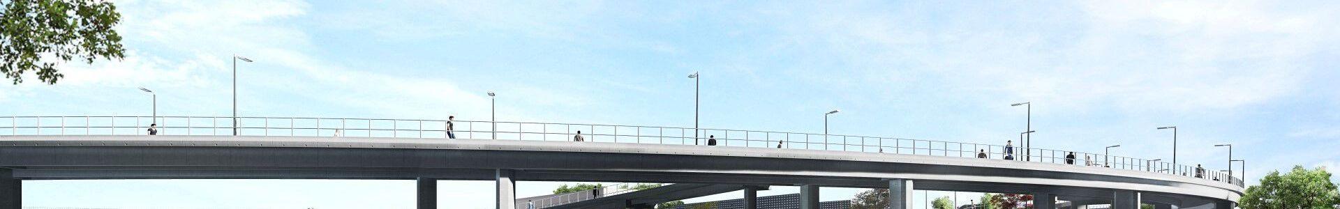 Zeytinburnu Metrobus Pedestrian Bridge